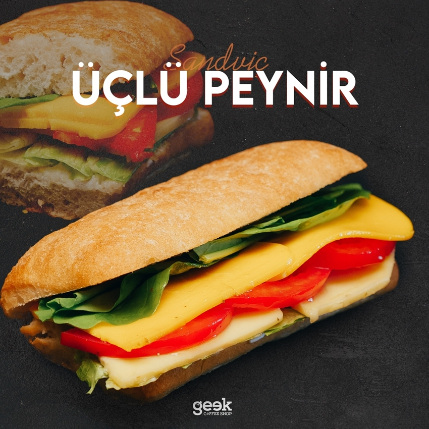 Resim Üç Peynirli Sandviç